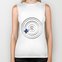 chicago bulls Biker Tanks featuring Bulls Eye by Nivedhna