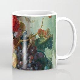 Fruit and Flowers in a Terracotta Vase by Jan van Os Coffee Mug
