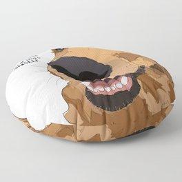 Golden Retriever dog love Floor Pillow