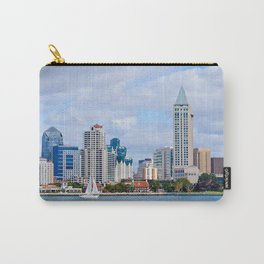 Sail On San Diego Bay Carry-All Pouch