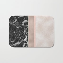 Marble in the night - rose gold Bath Mat