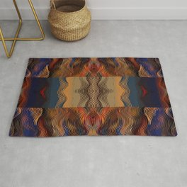 Under the Blanket of Sunset Native American Inspired Pattern Rug