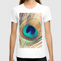 peacock feather T-shirts featuring Peacock Feather  by Laura Ruth