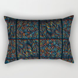 total psychedelic mess pattern Rectangular Pillow