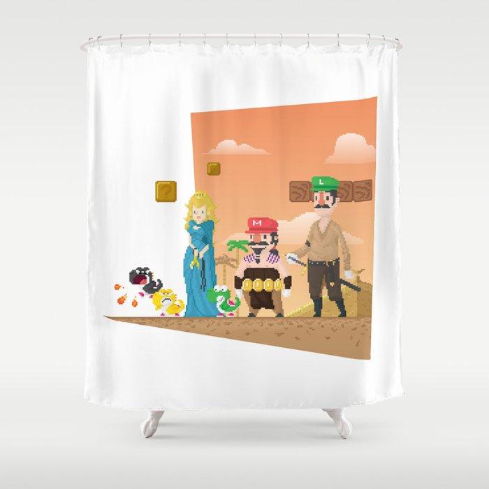 Super Mario GoT Shower Curtain