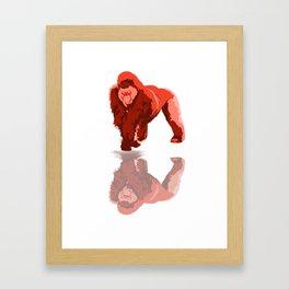 Gorilla Strong Framed Art Print