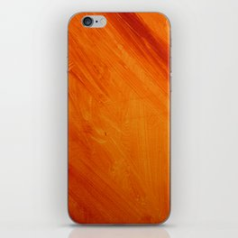 Orange and Red Abstract Acrylic Painting iPhone Skin