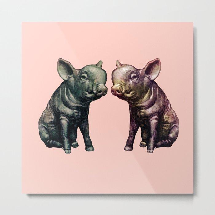 true love (pig love) Metal Print