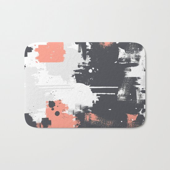 Abstract Paint Pattern 01 Bath Mat