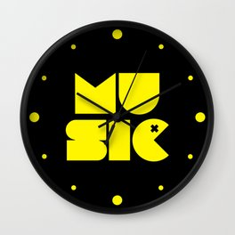 Music Man Rave Quote Wall Clock