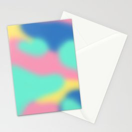 Abstract Pastel Stationery Cards