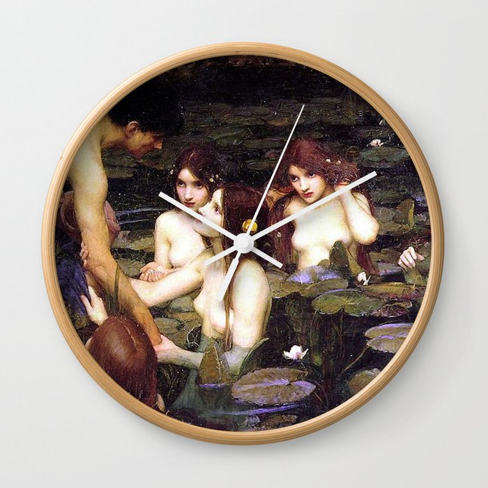 HYLAS AND THE NYMPHS - WATERHOUSE Wall Clock