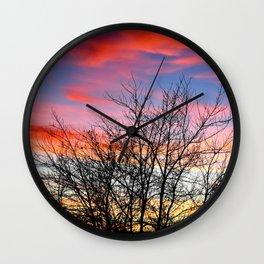 VIVID FALL SUNSET Wall Clock