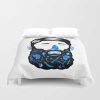 beard Duvet Covers featuring Pirate Beard by David Penela