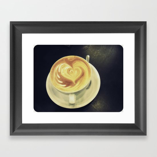 Latte Love ~ coffee Framed Art Print