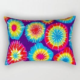 Tie dye circle round color rainbow red purple yellow blue pink orange Rectangular Pillow