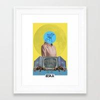 bubble Framed Art Prints featuring Bubble by LOSKA