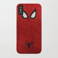 spider man iPhone & iPod Cases featuring Spider-Man by theLinC
