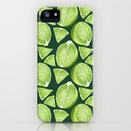 Lime... Juice... Mood... iPhone Case