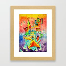 Invisible Cities-TAMARA【隐形的城市·插画】 Framed Art Print