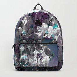Flowers Purple & Teal Backpack