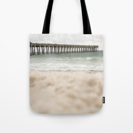 Sand at the pier - Panama City Beach Tote Bag