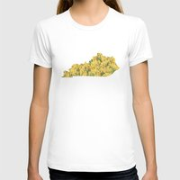 kentucky T-shirts featuring Kentucky in Flowers by Ursula Rodgers