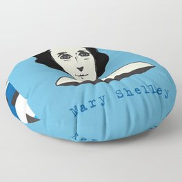 Mary Shelley, hand-drawn portrait Floor Pillow