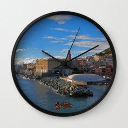 Porto di Nervi Wall Clock
