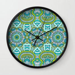 Gren Boho Pattern Wall Clock