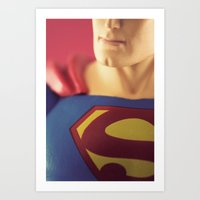 man of steel Art Prints featuring Man Of Steel  by Fanboy30