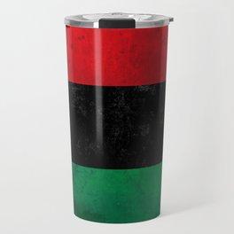 Distressed Afro-American / Pan-African / UNIA flag Travel Mug
