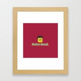 Potter Head Framed Art Print
