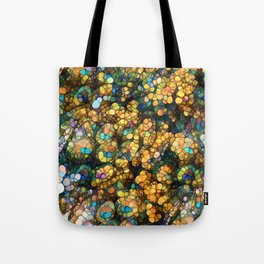 Peacock Rainbow Glitter Tote Bag