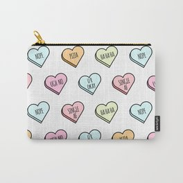 Sassy Valentines Candy Heart Pattern Carry-All Pouch