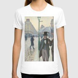 Gustave Caillebotte - Paris Street; Rainy Day T-shirt