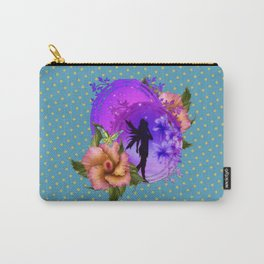 Enchanting Purple Faery Silhouette Carry-All Pouch