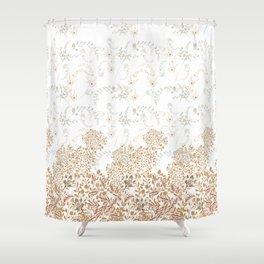 Indian Floral for Christmas Shower Curtain