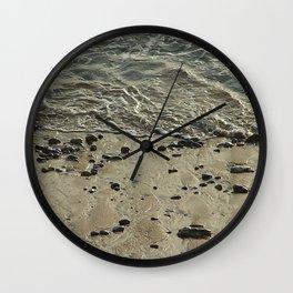 Seashore Sand Pebbles Wave Wall Clock