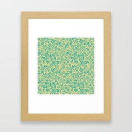 Flora Pattern Twelve Framed Art Print