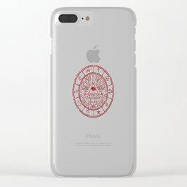 Gravity Falls Bill Cipher Wheel- disorderd Clear iPhone Case