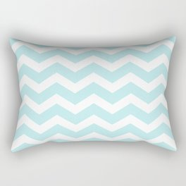 Turquoise Aqua Blue Chevron Rectangular Pillow