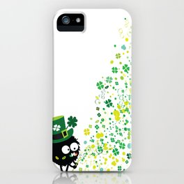 Blowing shamrocks iPhone Case