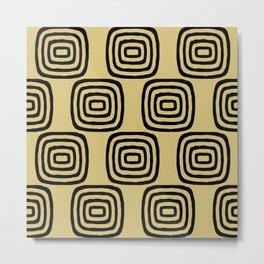 Mid Century Modern Concentric Pattern 253 Metal Print