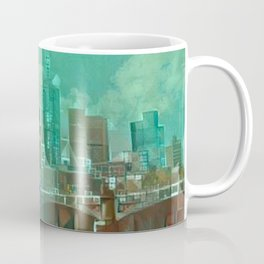 Melbourne Waterfront Abstract Coffee Mug