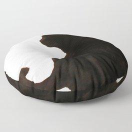 Halloween Black Cat Silhouette  Floor Pillow