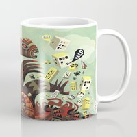 lovecraft Mugs featuring Tsuna me  by Exit Man