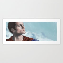 Man in cape Art Print
