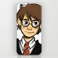 harry iPhone & iPod Skins featuring HARRY  by art of Bianca