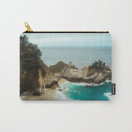 McWay Falls   Big Sur California Waterfall Ocean Coastal Travel Photography Carry-All Pouch
